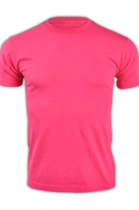 printstar 玫紅色146短袖男裝T恤 00085-CVT  潮版螢光T恤 純棉修身T恤 T恤專門店  T恤價格