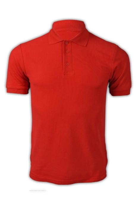 純色 大紅色030短袖男裝Polo恤 1AC03  DIY純色polo恤 polo恤供應商 T恤價格