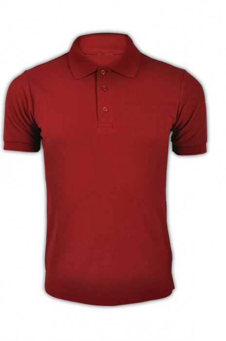 純色 酒紅色032短袖男裝Polo恤 1AC03  活動純色polo恤 運動透氣polo恤 polo恤香港公司 T恤價格