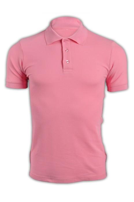 純色 粉紅色035短袖男裝Polo恤 1AC03  男裝DIY純色polo恤 polo恤選擇 polo恤供應商 T恤價格