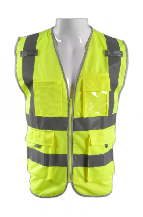 TB 黃色EN471梳織高亮反光背心 LK#003 來款訂製路政施工安全服 團體反光工作服 反光製服專門店 梭織反光背心價格