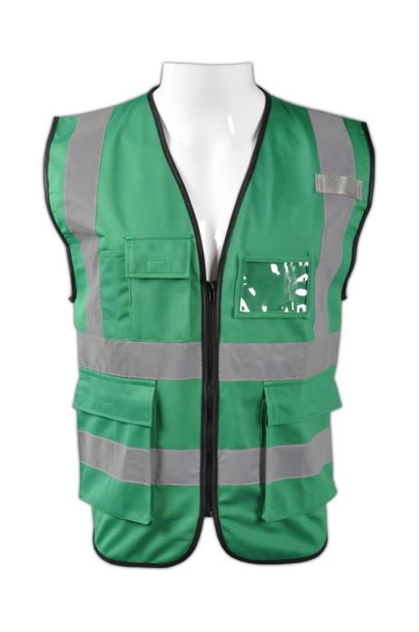 TB 綠色EN471梳織高亮反光背心 LK#088 設計訂製彈性反光背心安全服 反光背心網站 梭織反光背心價格