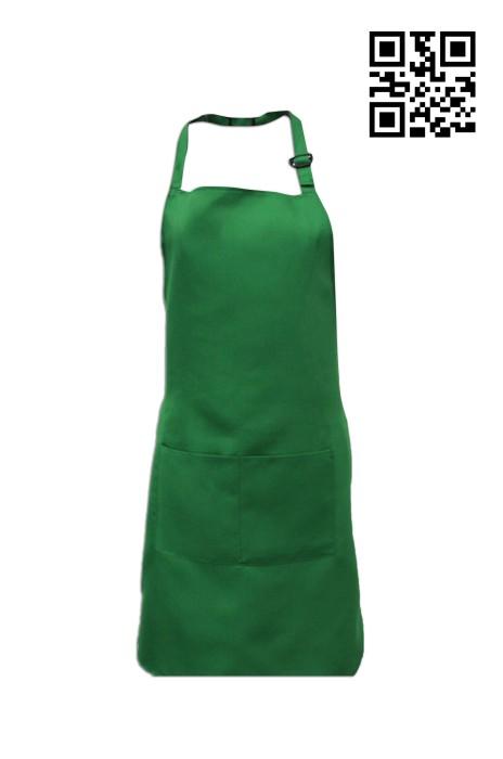 SKA002  草綠色圍裙   來樣訂做圍裙  圍裙生產商 圍裙價格