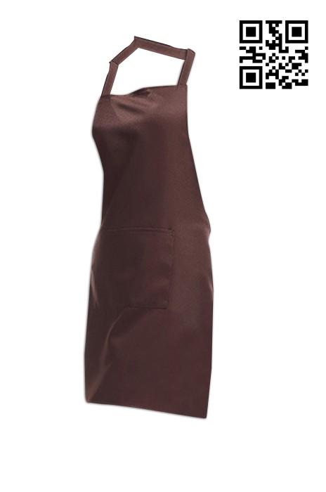 SKA003  棕色圍裙   供應訂購圍裙  圍裙製衣廠 圍裙價格