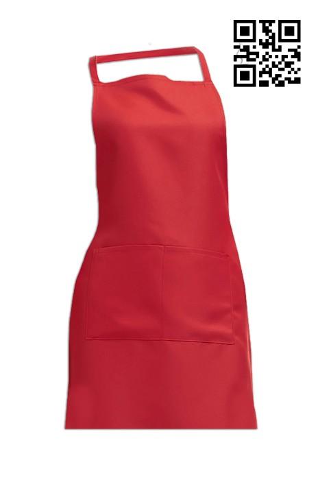 SKA005  大紅色圍裙   度身訂做圍裙  圍裙專營  圍裙價格