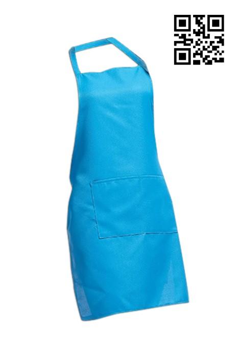 SKA006  湖藍色圍裙   來樣訂製圍裙  圍裙專門店 圍裙價格