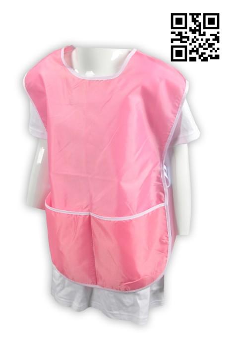 SKAP009 粉色圍裙 設計雙面小童圍裙  側邊 綁繩 訂造學校活動圍裙  牛筋面料 大量訂造圍裙 圍裙製造商  圍裙價格