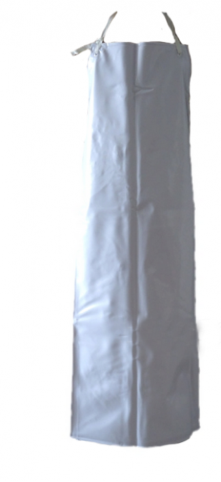 SKAP016  訂製食品加工防水防油圍裙  設計白色加長加厚圍裙  500G  PVC 訂購耐酸堿工作圍裙 圍裙製造商  圍裙價格