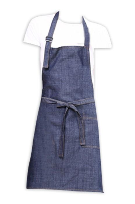SKAP027 訂購牛仔布圍裙 製造廣告logo圍裙 畫室面包房酒吧咖啡廳圍裙工作服  圍裙製造商  滌棉