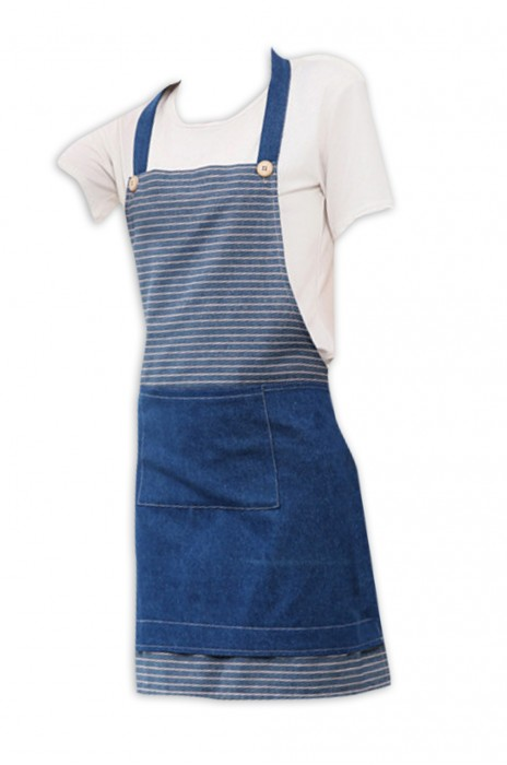 SKAP028  製造牛仔布圍裙 服務業營業員圍裙工作服 可印制logo  圍裙製造商  100%棉