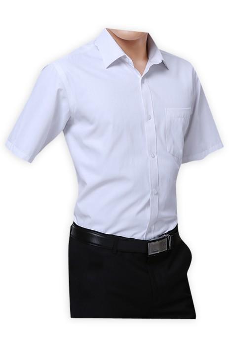 SKR008 自製工作服恤衫款式   製作修身OL恤衫款式   訂造男女裝短袖恤衫款式   短袖恤衫生產商