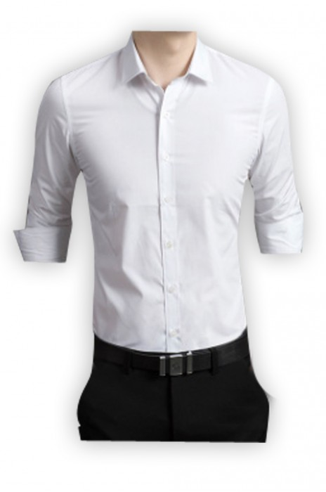 SKR003  供應男士長袖襯衫  製作休閑修身男襯衣  職業打底廣告恤衫  恤衫專門店