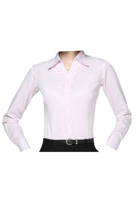 SKR012 設計商務長袖恤衫款式  製作馬蹄袖長袖恤衫款式   馬蹄袖   自訂女裝長袖恤衫款式   長袖恤衫生產商
