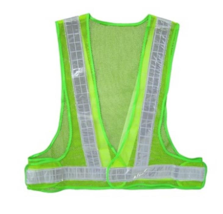 002P  淺綠色三角形反光背心   度身訂製三角形反光背心  三角形反光背心製衣廠  反光背心價格