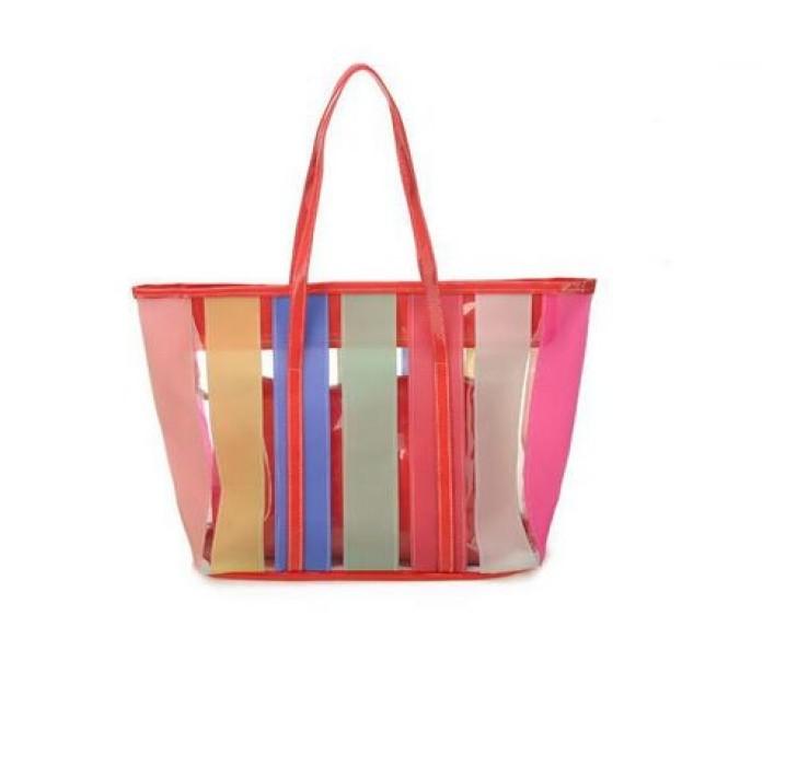 PVCB004 訂購糖果色pvc大袋 設計 果凍沙灘包pvc袋 制造防水pvc袋  手提袋hk中心
