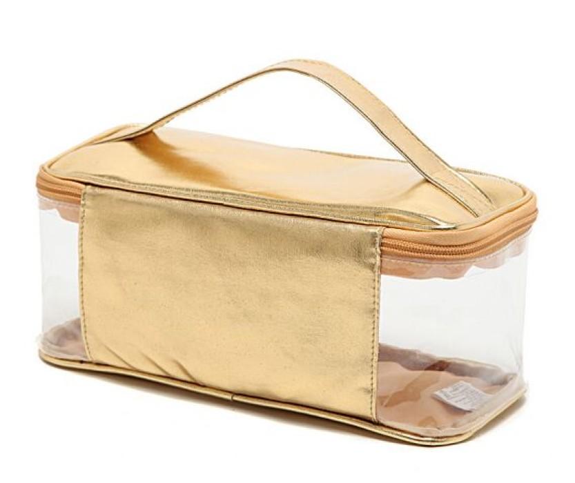 PVCB008 定購PVC化妝袋 製造塑料手提pvc袋 訂印可印logoPVC袋  拉鏈袋化妝袋專賣店