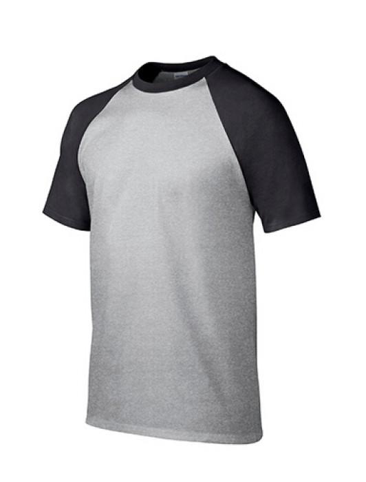 Gildan 灰色/黑色FB295短袖男装T恤 76500 撞色顯瘦彈力T恤 T恤批發 T恤訂製香港 T恤價格