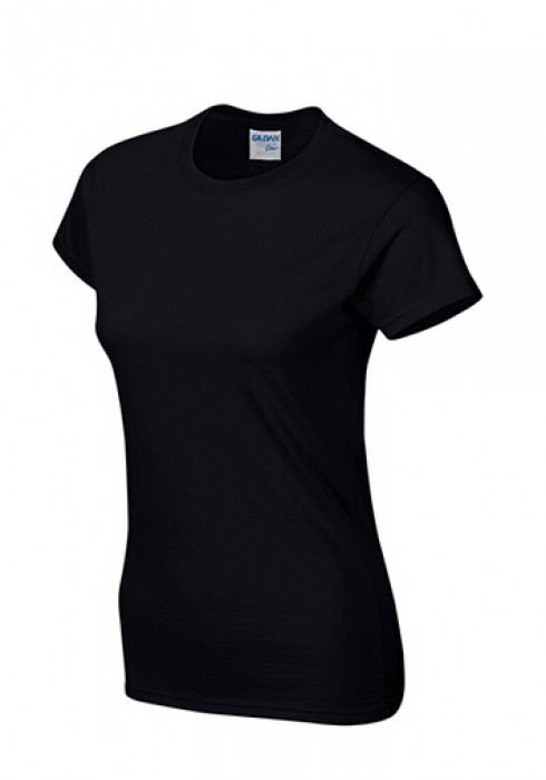 Gildan 黑色 036 短袖女圓領T恤 76000L 女圓領tee T恤批發 女T恤印字 T恤價格