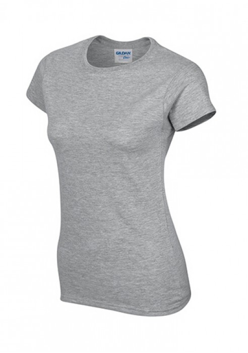 Gildan 灰色 295 短袖女圓領T恤 76000L 女裝T恤速印  透氣T恤 T恤供應商 T恤價格