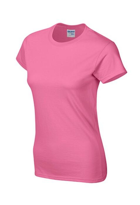Gildan 杜鵑花色 071  短袖女圓領T恤 76000L 女裝T恤速印  T恤印logo T恤供應商 T恤價格