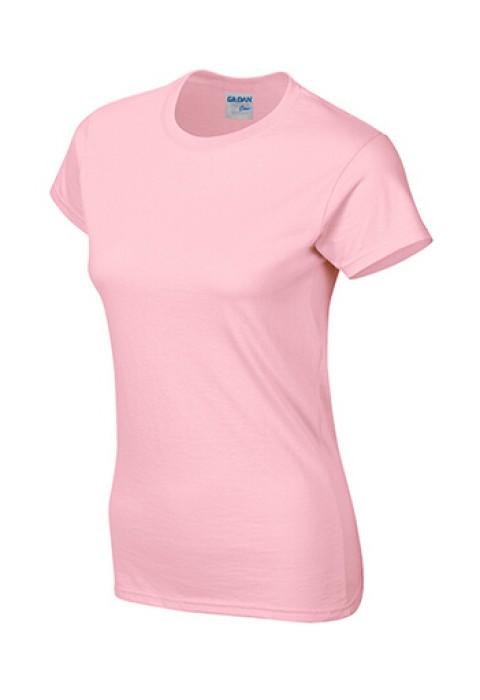 Gildan 淺粉色 020 短袖女圓領T恤 76000L 女裝T恤訂製 現貨T恤印字 速印T恤 T恤價格