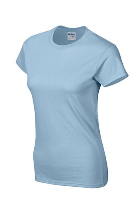 Gildan 淺藍色 069 短袖女圓領T恤 76000L 女圓領tee T恤批發 女T恤印字 T恤價格