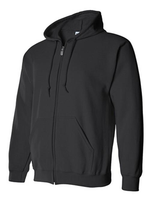 Gildan 黑色 036 拉鏈衛衣 88600 純色拉鏈外套訂製 拉鏈外套訂造 速印拉鏈外套 衛衣價格