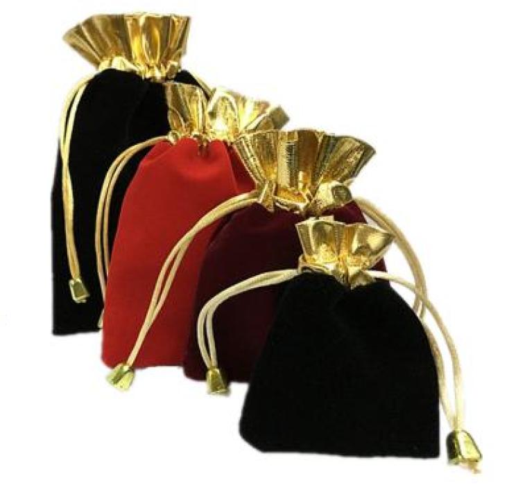 PC005  供應絨布首飾袋 設計索繩珠寶袋 訂造首飾禮品袋 首飾袋專門店