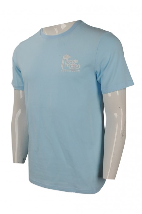 T814 來樣訂做圓領短袖T恤 訂製圓領短袖T恤 設計印花logo款 印刷行業 T恤供應商
