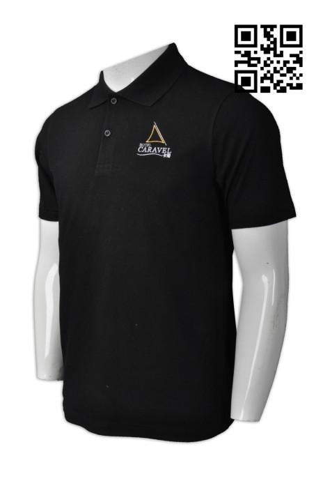 P746  定購淨色男士Polo恤  製造澳門短袖Polo恤  澳門卡爾酒店 來樣訂造Polo恤 Polo恤製衣廠