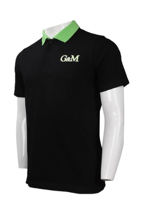 P819 來樣訂做領口撞色Polo恤 團體訂購男裝短袖Polo恤 自製logoPolo恤 Polo恤生產商