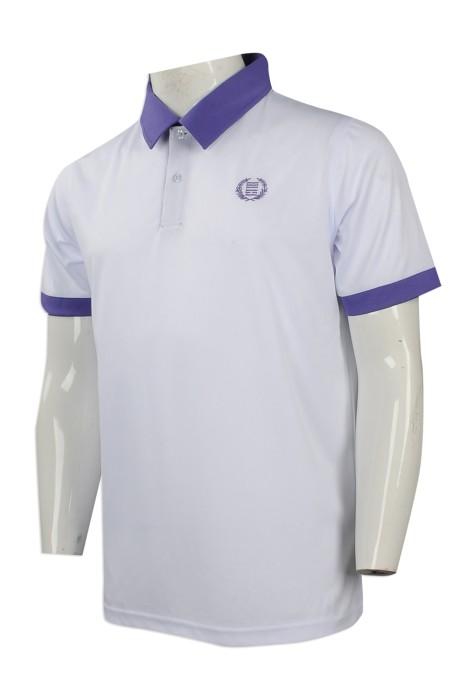 P823 度身訂做撞色領Polo恤 團體訂購繡花logo款Polo恤 撞色袖口 Polo恤製造商