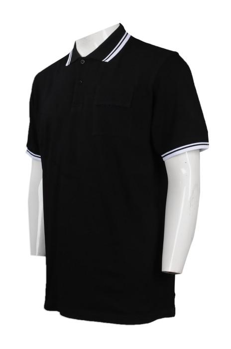 P825 大量訂製短袖特色胸袋 Polo恤 團體訂做蓋住LOGO款Polo恤 Polo恤專營店