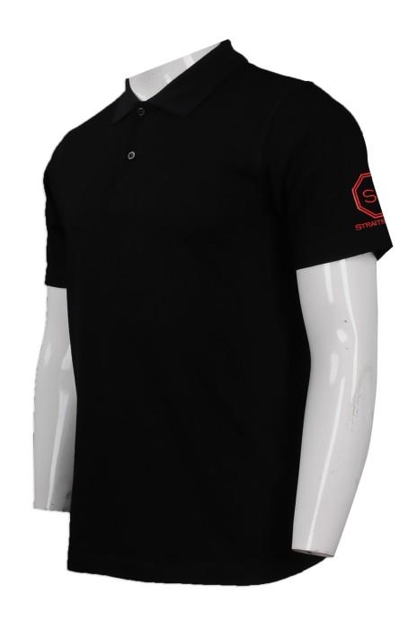P831 設計男裝短袖Polo恤 自製繡花logo男裝短袖Polo恤  餐廳 制服 Polo恤製造商