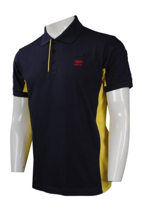P858 度身訂製男裝短袖Polo恤 大量訂購男裝短袖Polo恤 員工制服 Polo恤製造商