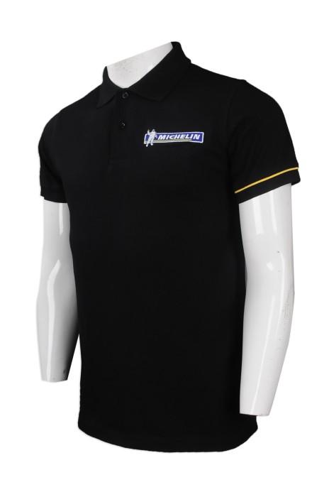 P871 來樣訂製男裝短袖Polo恤 自製繡花logo款Polo恤 中國 MECHELIN Polo恤供應商