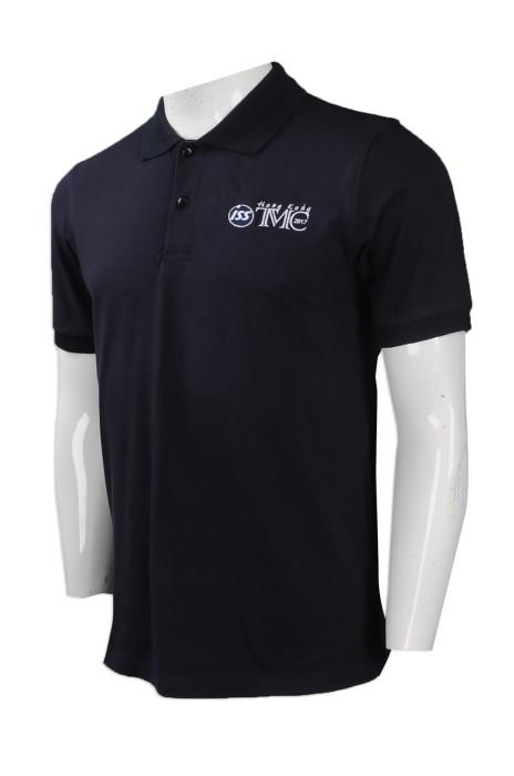 P877 團體訂購男裝短袖Polo恤 設計繡花logo款Polo恤 自製Polo恤 Polo恤製衣廠