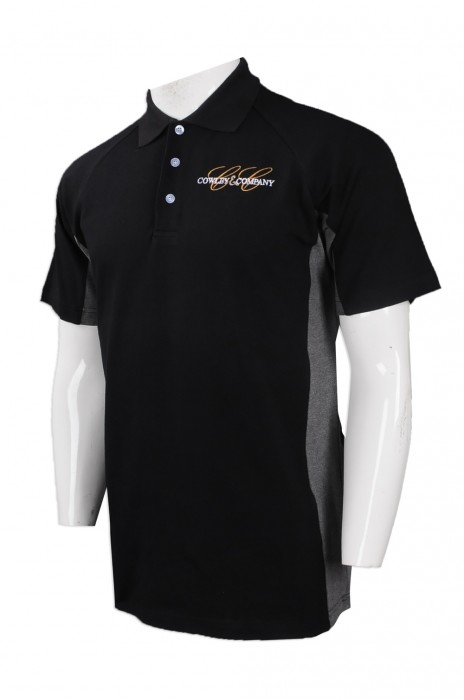P881 大量訂做男裝短袖Polo恤 自製繡花logo款Polo恤  美國 房地產公司 制服Polo恤生產商