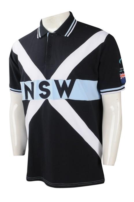 P952 大量訂做男裝短袖POLO恤 設計男裝POLO恤 大胸 印花 澳洲 TFS  訂造POLO恤專營店