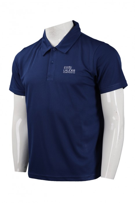 P1009 訂做短袖Polo恤 法國 化妝品品牌 制服 polo恤製造商