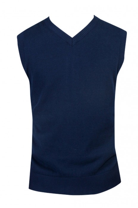 SKSW002   設計無袖毛衣  供應V領針織衫毛背心 套頭無袖純棉馬甲坎肩   澳門 金融管理局 毛衫製造商