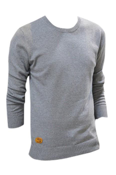 SKSW008  製造薄款圓領男毛衣 訂購修身套頭針織毛衫 純色長袖線衣冬天打底  全棉毛衫 現貨 價格