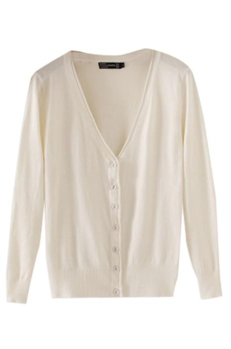 SKSW011 訂購薄款針織衫  製作女開衫毛衫 長袖V領外搭短款毛衣  小披肩外套空調衫