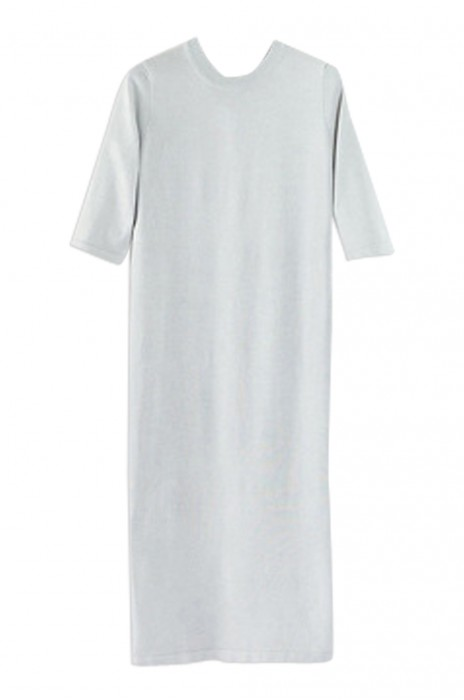 SKSW021  訂購薄款開叉針織裙  毛衫針織連衣裙  寬松中袖長打底裙  毛衫裙製造商