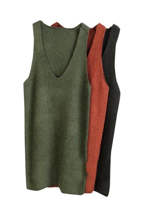 SKSW022 製作吊帶背心毛衣裙  訂購大碼針織連衣裙  中長款寬松背帶裙子  毛衫裙供應商