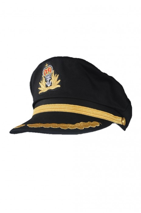 HJM009 訂做黑色海軍帽 設計海軍帽 自訂海軍帽專營店