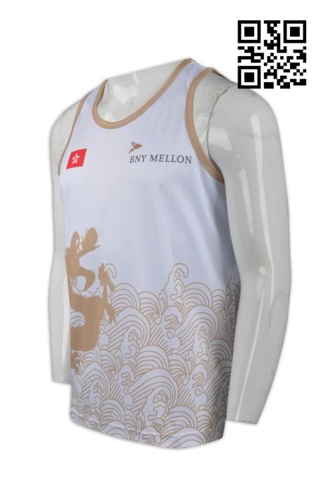 VT144  設計運動背心T恤 網上下單背心T恤 熱昇華 龍舟比賽T恤 龍舟競賽制服 來樣訂造背心T恤 背心T恤中心