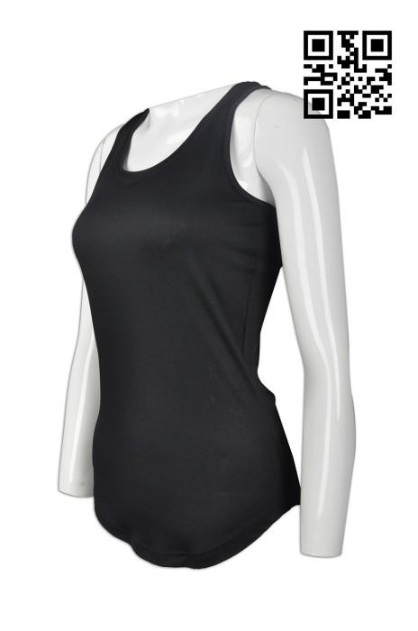 VT153 訂做女裝背心款式   設計淨色背心款式  圓腳衫底   自訂度身背心款式   背心製衣廠