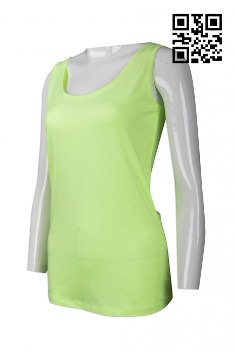 VT154  訂造純色背心T恤  設計螢光背心T恤 網上下單背心T恤 背心T恤供應商