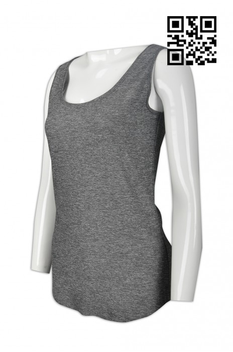 VT156 訂造度身背心T恤款式    設計淨色背心款式   花灰   製作女裝背心T恤款式    背心製造商